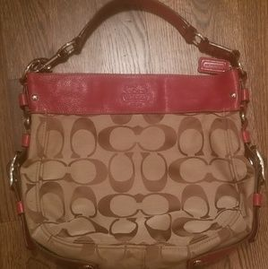 Large Red Coach Bag